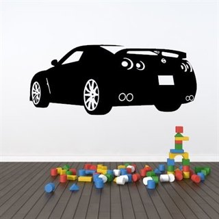 Fed sports bil som wallsticker