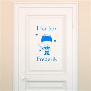 Her bor med prins - wallstickers