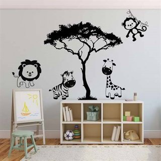 Wallstickers med den store safari park