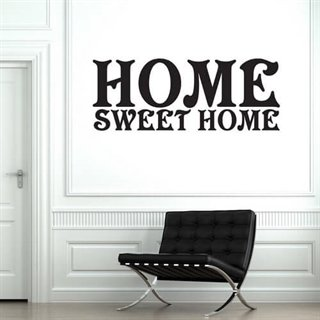 Wallstickers med tekst sweet home