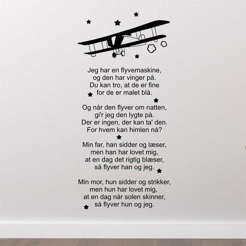 jeg har en flyvemaskine sang