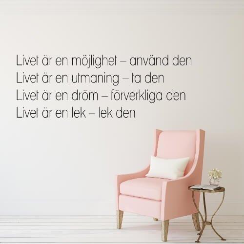 citat om livet Et citat om livet   Altid hurtig levering! citat om livet
