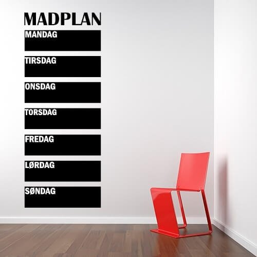 Wallstickers - Madplan