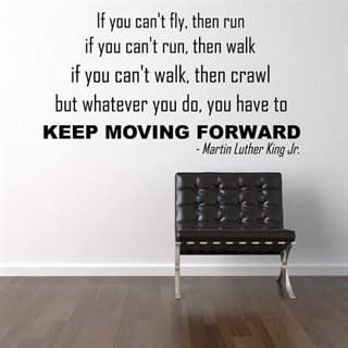 Wallstickers citat med teksten. Keep moving forward