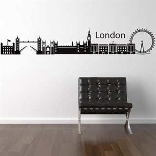 Wallstickers med London i skyline