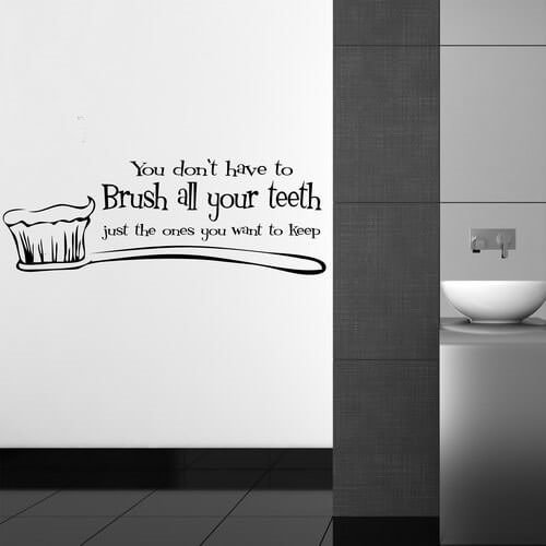 Wallstickers - Brush all your teeth