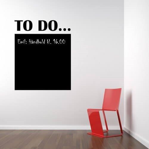 Oppdatert Tavle to do - Køb denne wallsticker online hos Sohu WJ-52