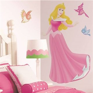 Wallsticker med Tornerose