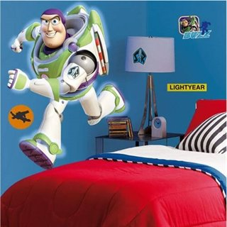Wallsticker med Buzz lightyear