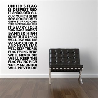 Kampsang af Manchester United - Fed wallsticker