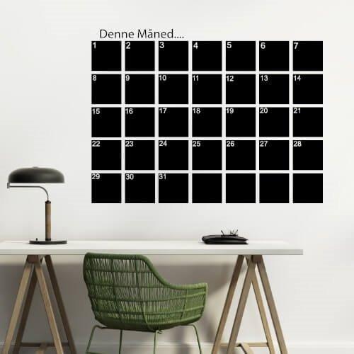 Veldig Wallsticker Månedskalender med tusch | Hold styr på dine planer PC-53