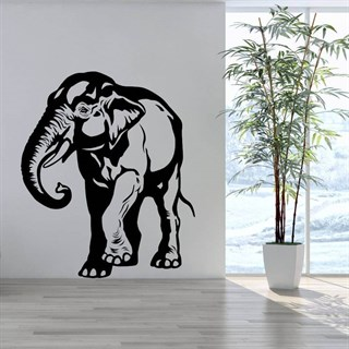 Wallstickers med Asiatiske elefant
