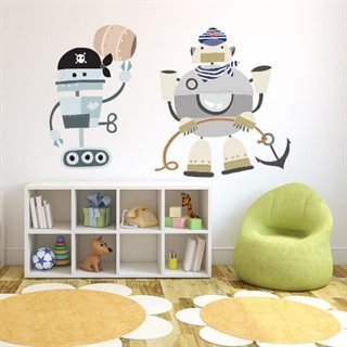 Wallsticker med pirater 2