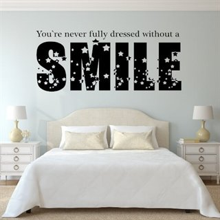 Wallstickers med tekst without a smile