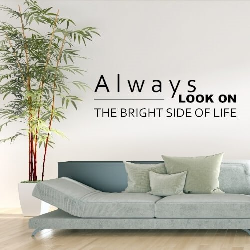 Wallstickers med tekst - Always look on the bright side