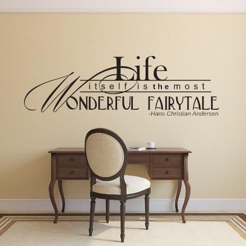wallstickers citater Wallstickers citat   Life itself is the most wonderful wallstickers citater