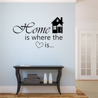 Wallstickers  - Home is where..