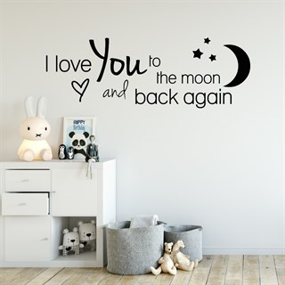 Wallstickers - Med  teksten: I love you