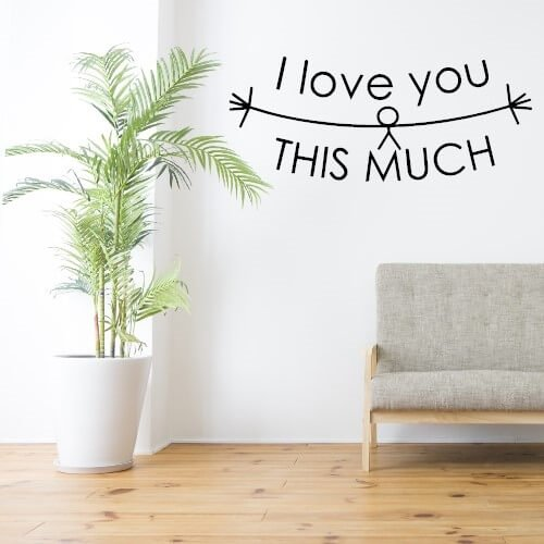 I love you so much - sjov wallsticker til væggen