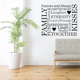 Wallstickers med teksten No matter what i sort