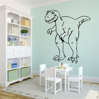 Tyrannosaurus wallsticker - super sej stickers til drenge