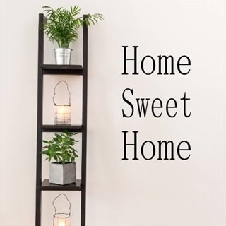 Wallstickers med tekst home sweet home