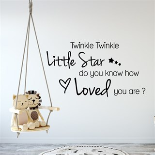Wallstickers - Med teksten: Twinkle twinkle little Star