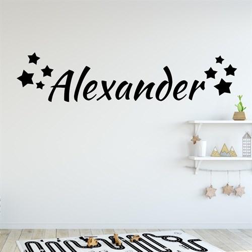 eget navn med mange stjerner - køb wallstickers online