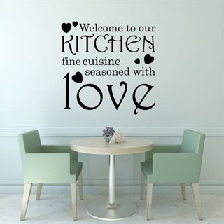 Wall stickers med teksten: Kitchen love